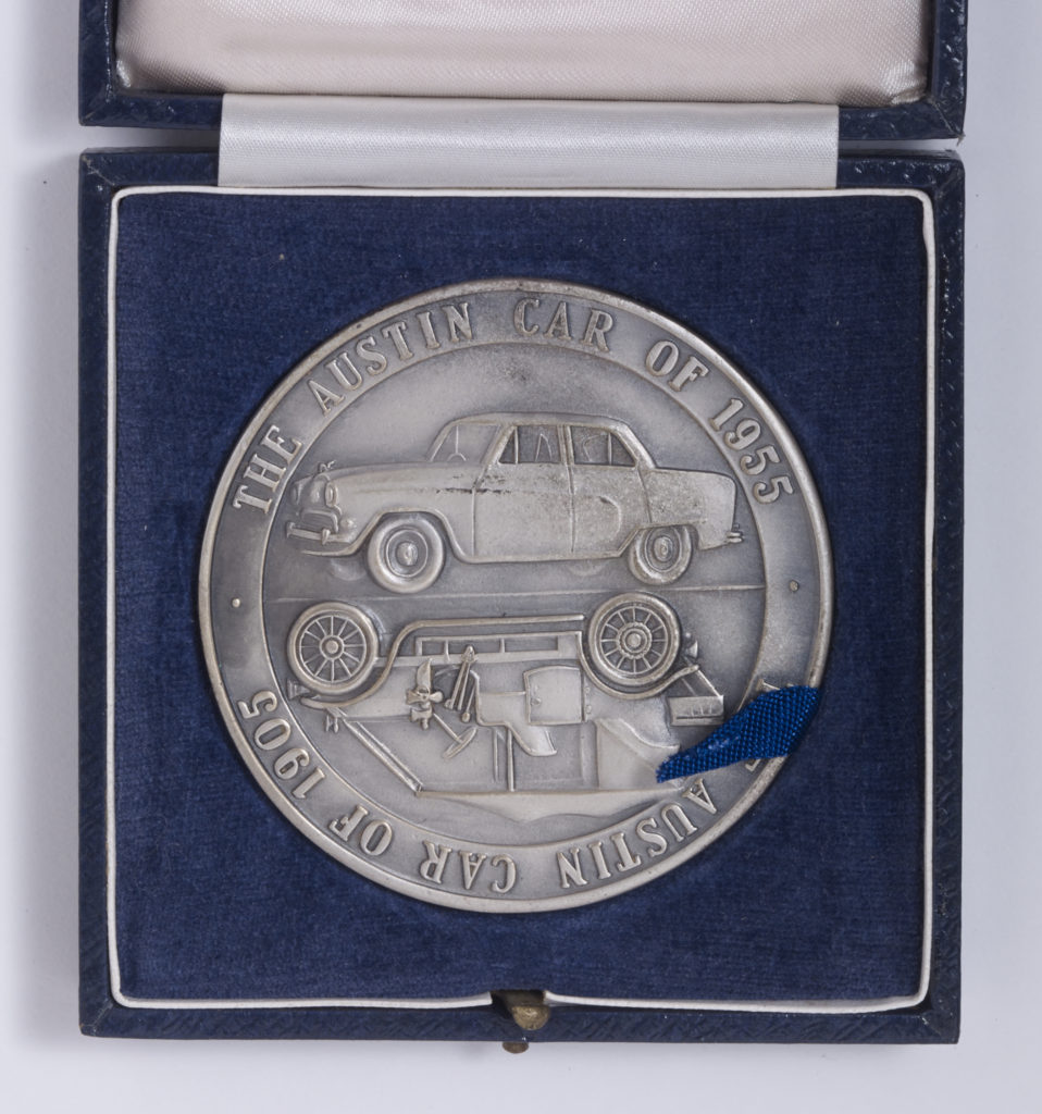 Austin Golden Jubilee 1905 - 1955  - car side of coin - box open Image