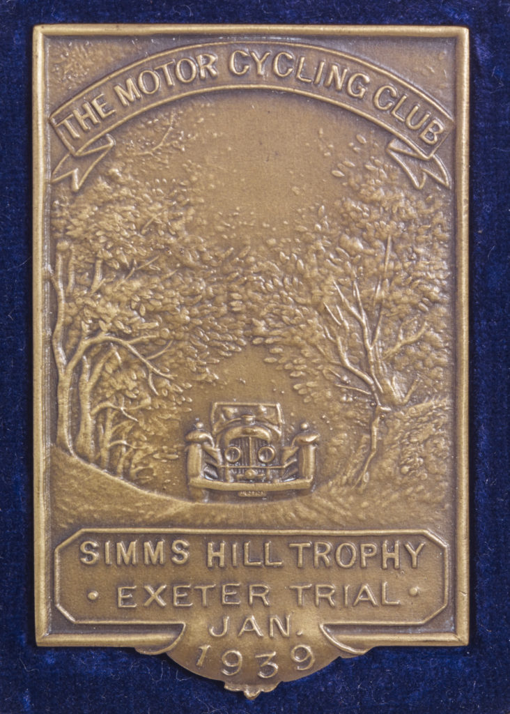 Simms Hill trophy - Exeter Trial Image