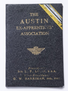 The Austin Ex-Apprentices Association - membership book - Bert Hadley - Cover Image