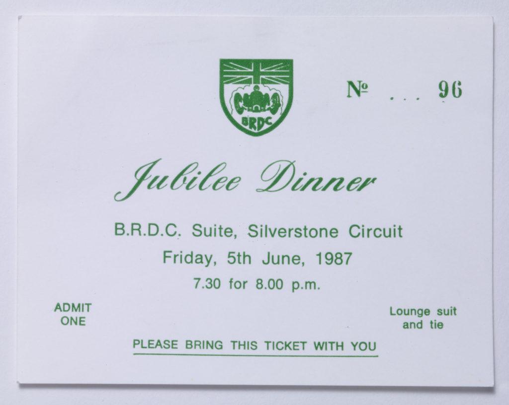 BRDC - Jubilee Dinner Image