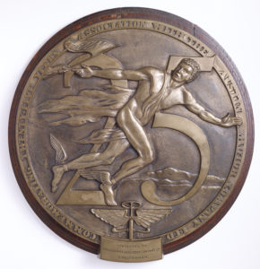Bronze wall Medallion - presented to dealers to celebrate 25 years association with Austin Image