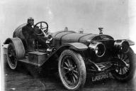 Jack Jackson (Boxing champion) at the wheel of 1908 100hp GP Racer