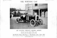 Lou Kings at the wheel of 20hp Austin 1/4