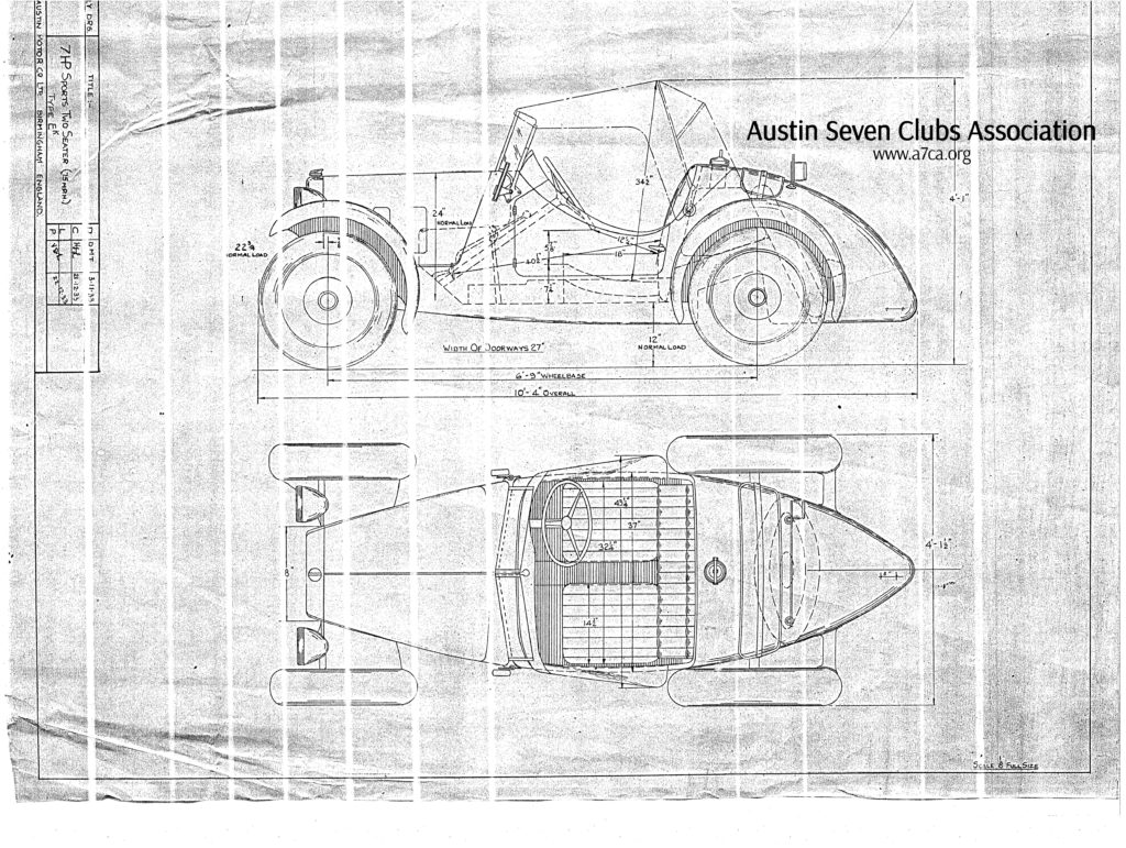 Assembly Drg EK;7HP Sports two seater (75MPH) Image