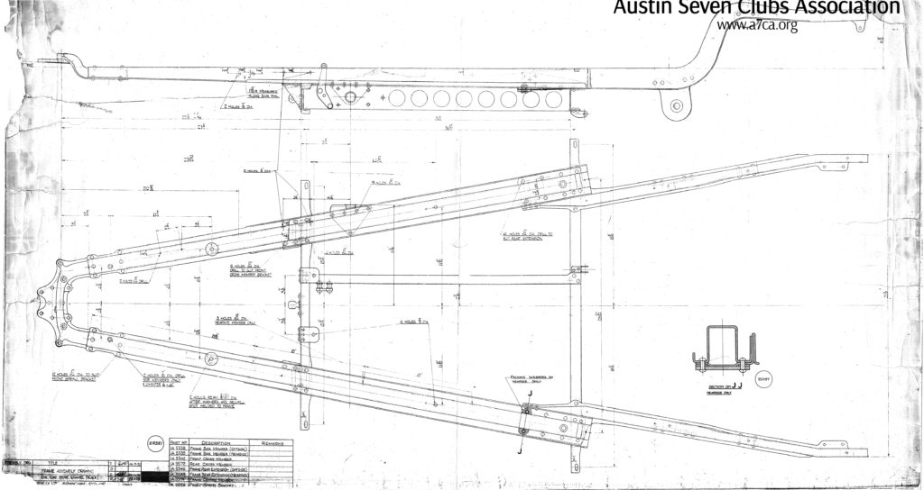 Frame Assembly Drawing; 1936 Image