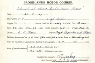 International Class H Record Certificate BC_035_001
